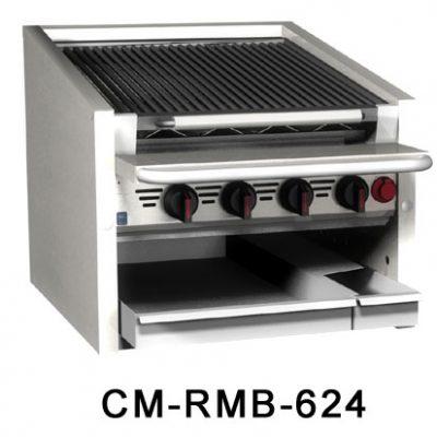 MagiKitch'n Char Broiler With Water Tray CM-624-RMB
