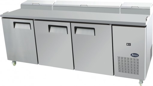 Atosa Triple Door Food Prep Table Fridge MPF8203