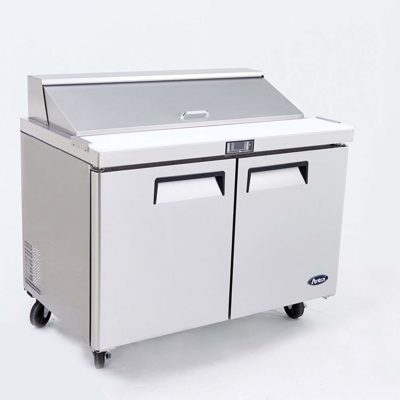 Atosa Large Double Door Food Prep Table Fridge MSF8303