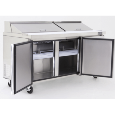 Atosa Three Door Counter Prep Fridge MSF8304
