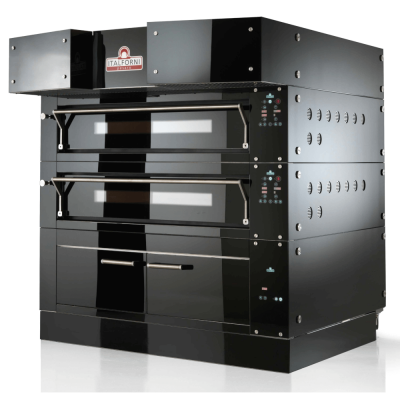 Double deck customisable electric pizza oven