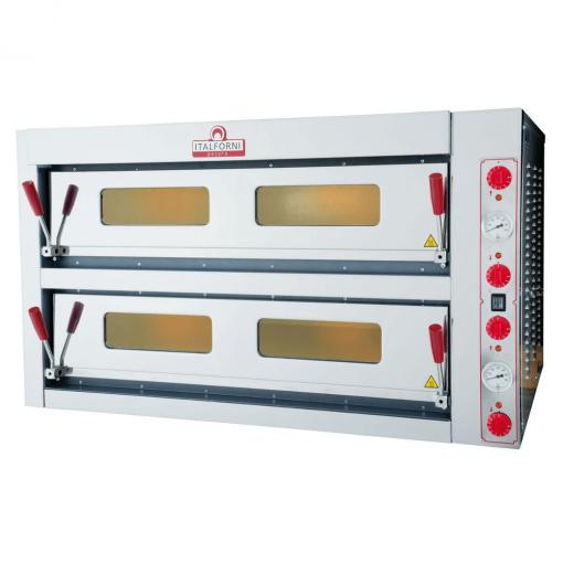 Italforni double deck electric pizza oven 6 + 6 TKD2