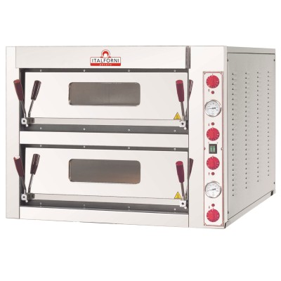 Italforni Double Deck Pizza oven TKA2 4 + 4