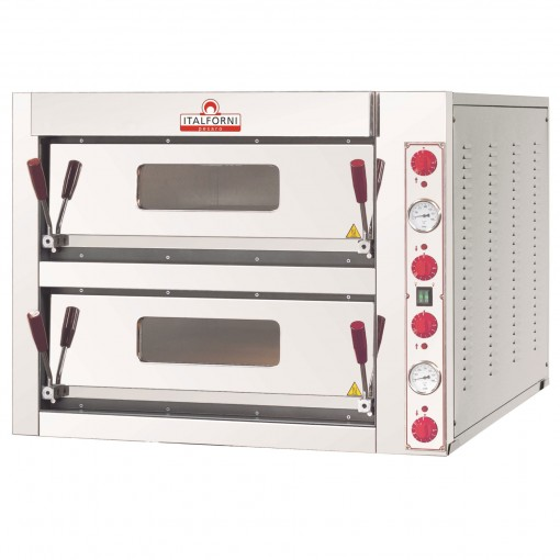 Italforni Double Deck Pizza oven TKA2 4 + 4