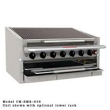 MagiKitch'n charbroiler with water tray CM-636-RMB