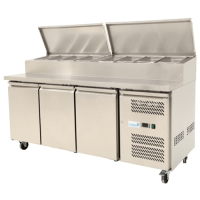 Kingfisher Pizza Prep Counter 3 Door SH 3000/700