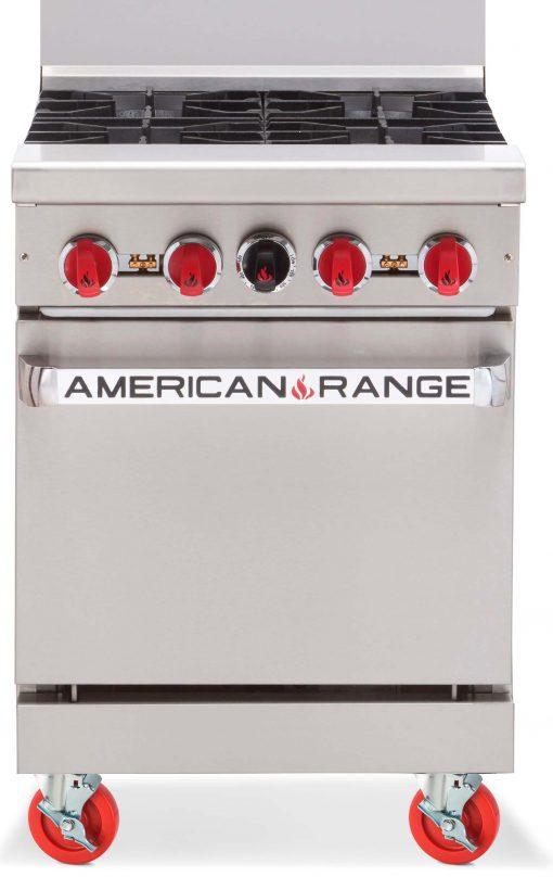 American Range AR4 - Slimline 4 Burner Range