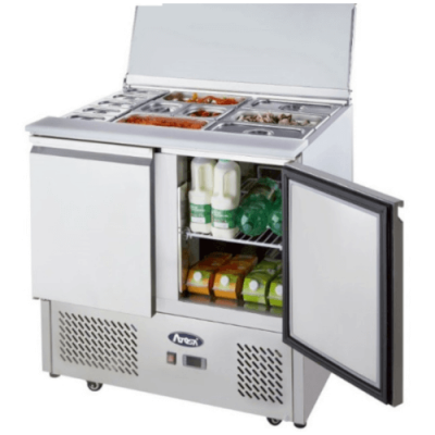 Atosa ICE3800GR 2 door prep fridge