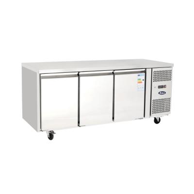 Atosa EPF3432 3 Door bench fridge