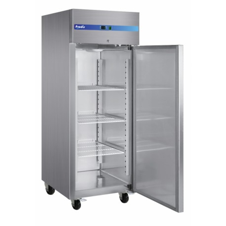 tall stainless steel fridge