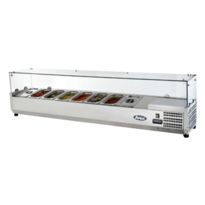 Atosa toppings unit VRX 1200/380 glass top