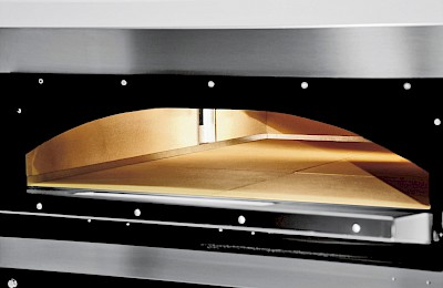 GGF FR72/44 Double deck pizza oven cooking chamber completely in refractory stone