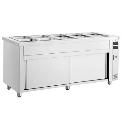 Inomak MHV718 Bain Marie With Heated Base 5x GN11