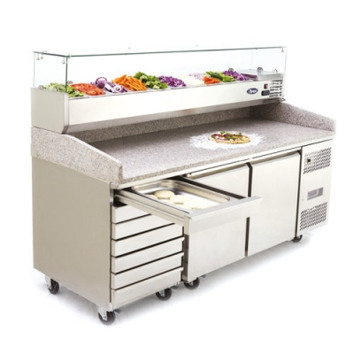 Atosa EPF3480GR Pizza counter with VRX toppings unit