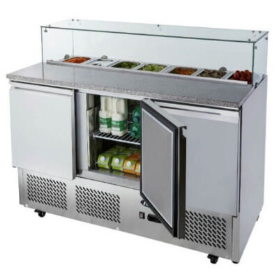 Atosa Ice-A-Cool ICE3864GR 3 Door Marble Top Saladette Counter