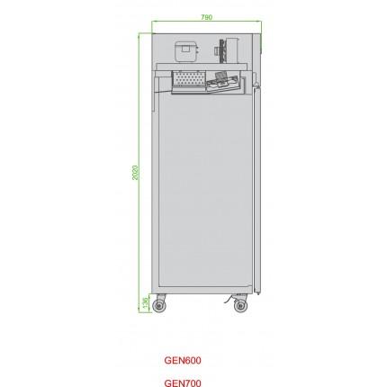 Genfrost GEN600H Single door upright fridge