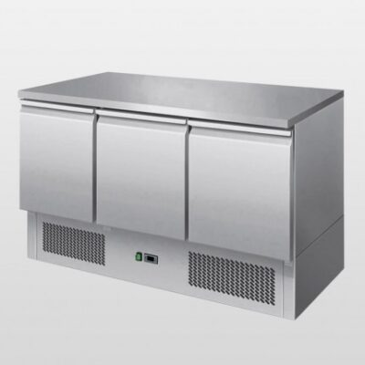 ATOSA ICE3851 3 door counter fridge